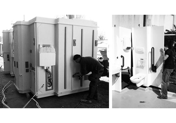 installation salle de bain préfabriquée