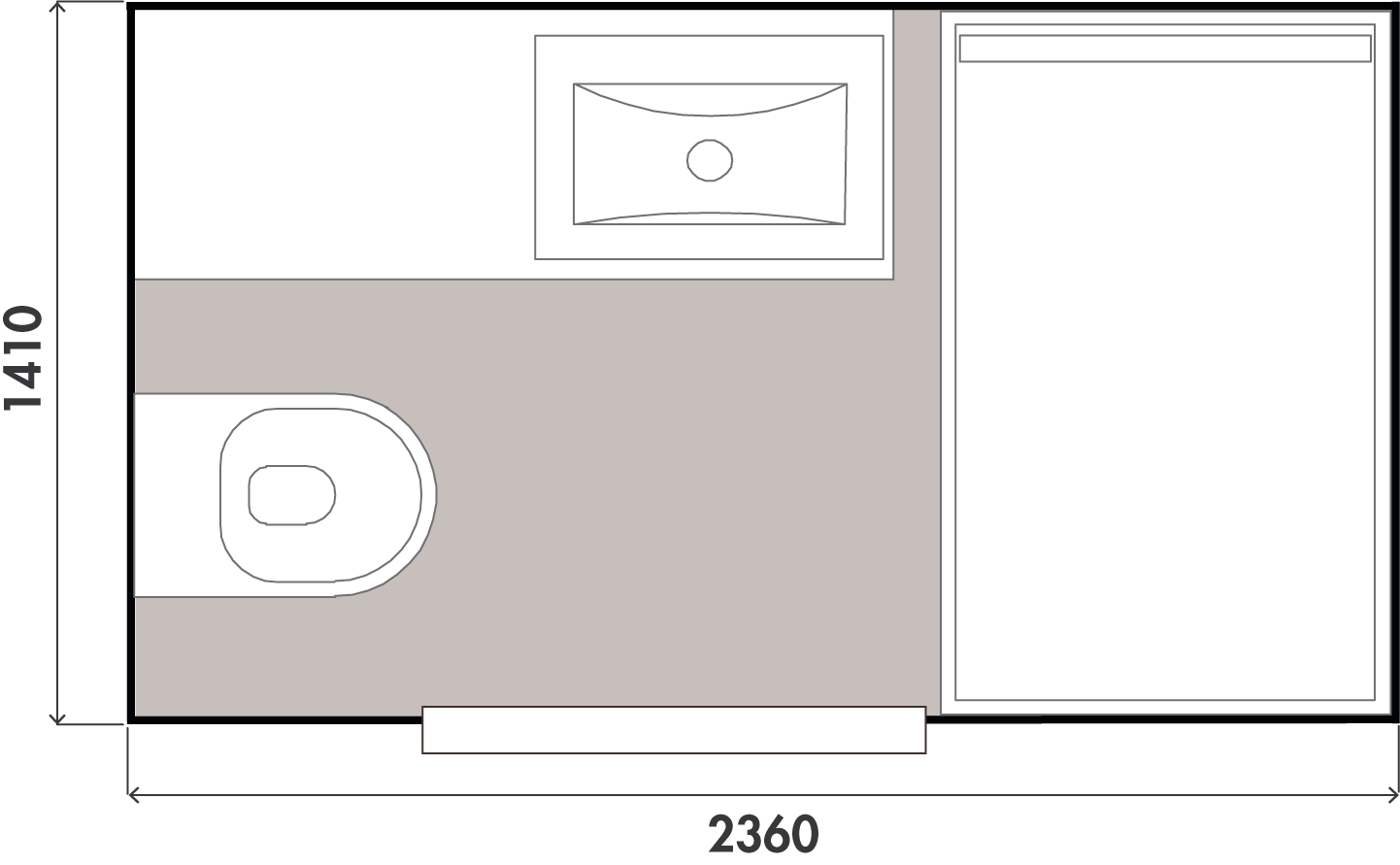 plan salle de bain olympie