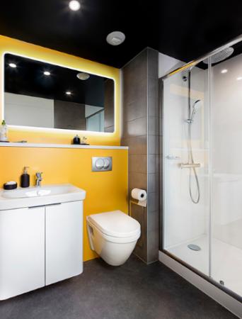 dimensio 110 salle de bain carrelée