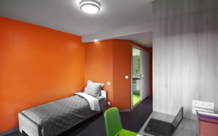 salle de bain préfabriquée logement modulaire