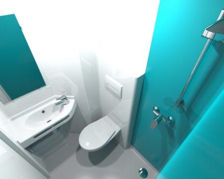 salle de bain préfabriquée grenat