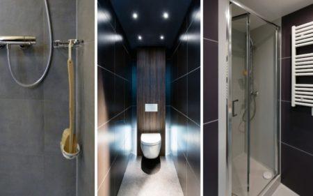 salle de bain carrelée préfabriquée