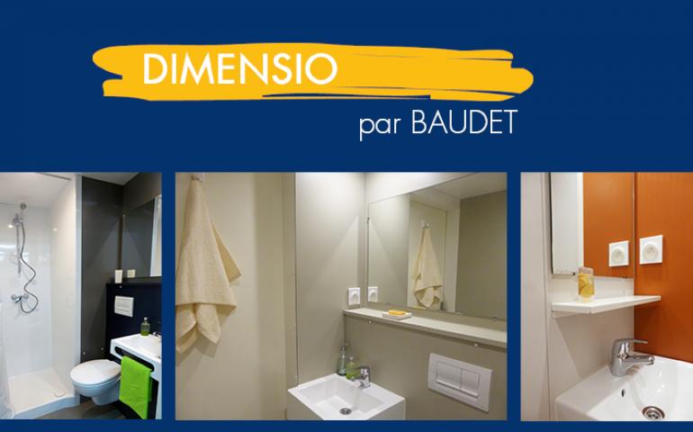 """DIMENSIO, la nouvelle gamme de salles de bain """"prêtes à poser"""" adaptables"""