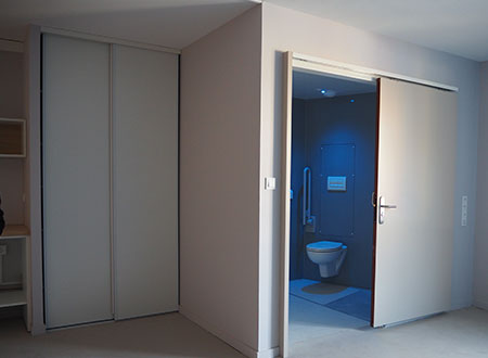 chambre ehpad salle de bain préfabriquée