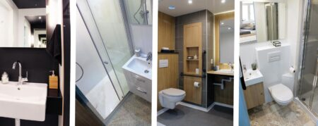 4 gammes salles de bain préfabriquées